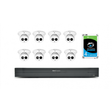KIT2, 16-Channel NVR 6MP IP Eyeball Camera 4TB Hard Drives Bundle