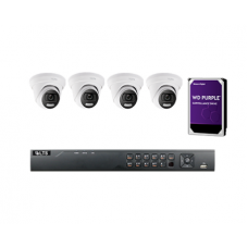 KIT23, 8-Channel DVR, 5MP Color247 HD-TVI Turret Camera, 2TB Hard Drives Bundle